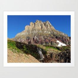 Clements Mountain Glacier National Park Nature Photography LCApplingPhotoArt Art Print