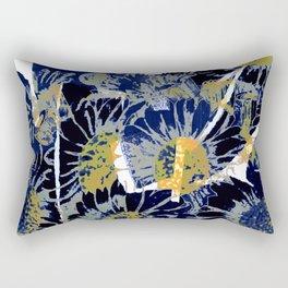 daisies on astract bakground Rectangular Pillow