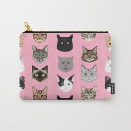 Cute Cat breed faces smiling kitten must have gifts for cat lady cat man cat lover unique pets Carry-All Pouch