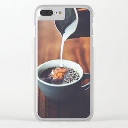 Dreams In My Coffee Clear iPhone Case