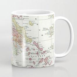 Vintage Map of Greece (1903) 2 Coffee Mug
