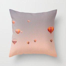 vintage hot air balloons in rio Throw Pillow