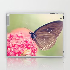 Spotted Black Crow Butterfly Laptop & iPad Skin