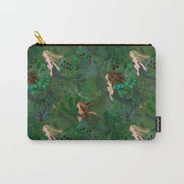 Mermaids in an Underwater Garden Carry-All Pouch