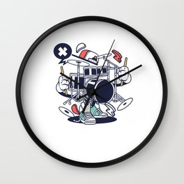 Drumset Drummers Music Lovers Musicians Drums Rock Bands Instruments Gift Wall Clock