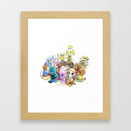 The delicious reunion Framed Art Print
