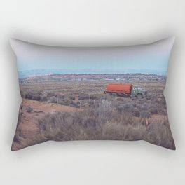 Pastel Sunsets in the Desert, Plus Truck Rectangular Pillow