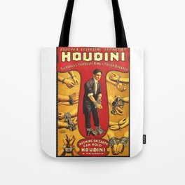 Houdini, vintage theater poster, color Tote Bag