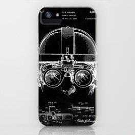 Welding Goggles Blueprint iPhone Case