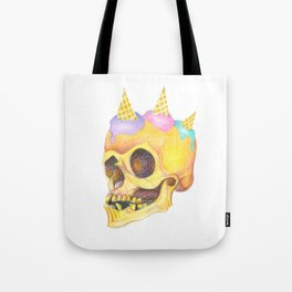Skull Cream Tote Bag