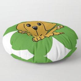 Dog On Four Leaf Clover- St. Patricks Day Funny Floor Pillow