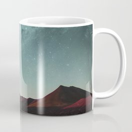 Universe above the mountain peaks Coffee Mug