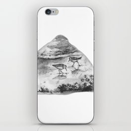 Sandpipers on the beach by annmariescreations iPhone Skin