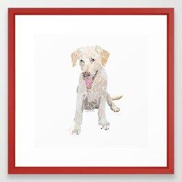 Polygon Labrador Framed Art Print