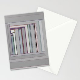 Grayfest in distorted stripes geometric fabric art Stationery Cards