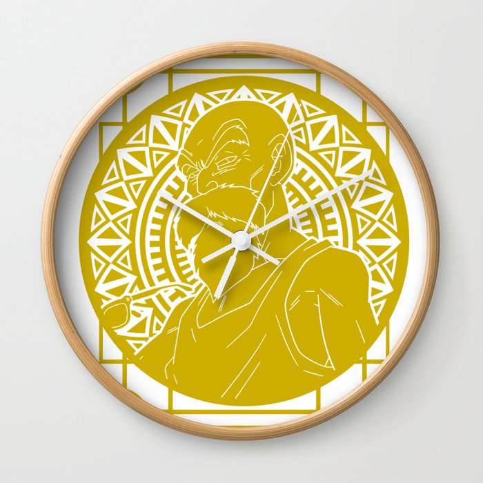 Stained Glass - Dragonball - Muten Roshi Wall Clock