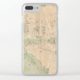 Vintage Map of Washington DC (1892) Clear iPhone Case