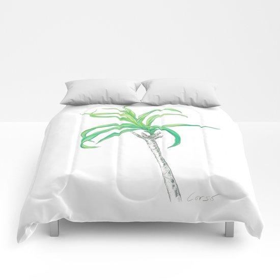 Palm 01 Botanical Flower Comforters