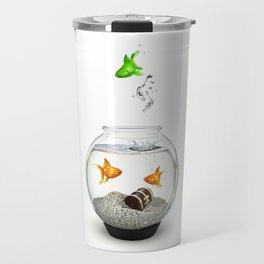 Gold Fish Outsider Travel Mug
