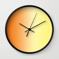 ombre Wall Clocks featuring Ombre by Kacieeeee