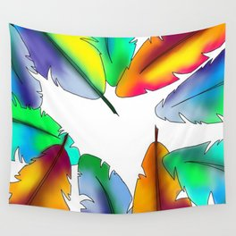 Tropical Feathers Wall Tapestry