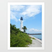 Miami Lighthouse Art Print