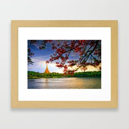 Blossoming View. Framed Art Print