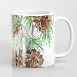 pine cones watercolor Coffee Mug