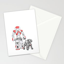 The Dog Walker. (Red) Stationery Cards