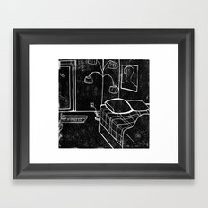 Sunny Vancouver (Subtractive Cut) Framed Art Print