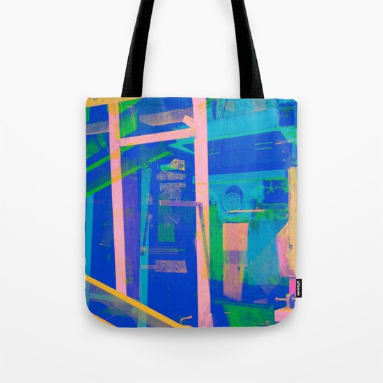 Industrial Abstract Blue 2 Tote Bag