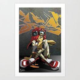 Graffiti girl Art Print