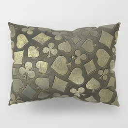 Vintage Gold and Marble Suits Pattern Pillow Sham