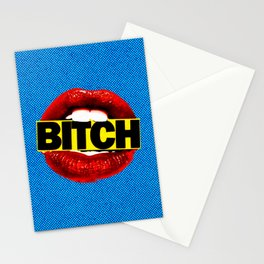 Bitch Retro Pop Art Style Stationery Cards
