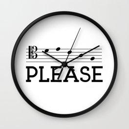 Decaf please (tenor version) Wall Clock