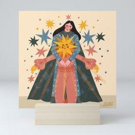 Hold Me Tight So I Can Shine Brighter  Mini Art Print