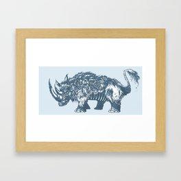 Elasmotherium Framed Art Print