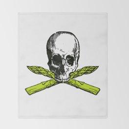 skull asparagus Throw Blanket