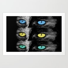 Blue and yellow make green Art Print
