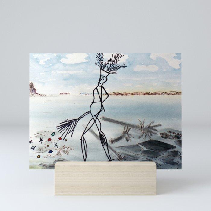 Glooscap from Mic Mac Legend, Canada        by Kay Lipton Mini Art Print