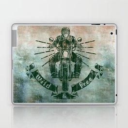 Wild and Free Motorbike Rider Laptop & iPad Skin