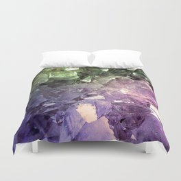 Two Tone Crystal Geode Duvet Cover