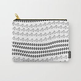 love in Black & White Carry-All Pouch