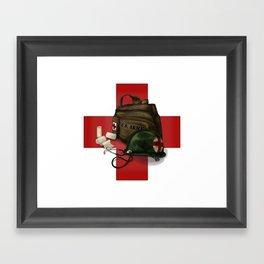 Army Medic Cross Framed Art Print