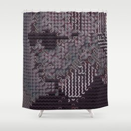 Hedgehog geometric pattern portrait of Karl Lagerfeld Shower Curtain