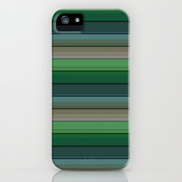Striped green-gray pattern iPhone Case