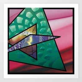 Angles of Nature ~ Design 02 Glass Art Print