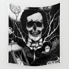 Edgar Allan Poe Nevermore Wall Tapestry