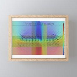 Fringing fields Framed Mini Art Print