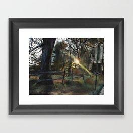 Autumnal Sunset Framed Art Print